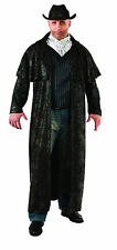 Men's Gunslinger Cowboy Costume Black Duster Coat Wild West Men's Plus Size 2X