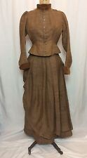 ANTIQUE EARLY 1900'S VICTORIAN DRESS, BODICE, SKIRT