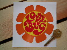 LOVE BUG Car STICKER VW Volkswagen Camper Beetle Flower Power Festival Hippy