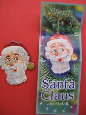 NATALE 2003 SANTA CLAUS APPENDIALBERO IN METALLO  + CARTINA  kinder germania