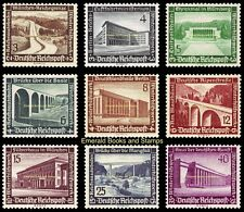EBS Germany 1936 Winter Charity Modern Buildings & Structures Michel 634-632 MH*