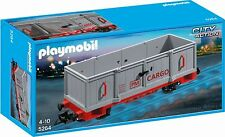 * PLAYMOBIL * High-Sided Cargo Train Wagon (5264) * BNIB *