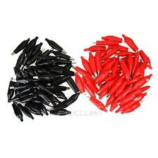 100x 45mm Electrical Jumper Wire Cable Crocodile Alligator Test Clip Connector