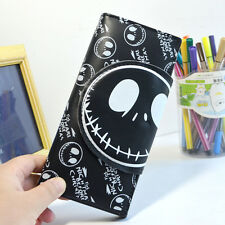 Hot Nightmare Before Christmas Jack Skellington Cartoon Wallet Fold Purse Bag