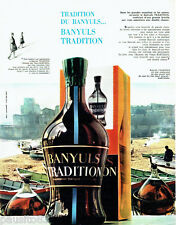 PUBLICITE ADVERTISING  026  1963  Banyuls Tradition vin apéritif