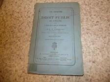 1876.Principes du droit public de l'église.Tarquini