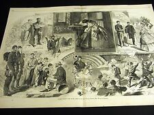 Winslow Homer NEWS FROM the WAR 1862 Large Civil War Print Engraving and STORY