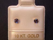 Feinste Iolith Ohrstecker Ohrringe - 3 mm - 10 Kt. Gold - 417 - Brillantschliff
