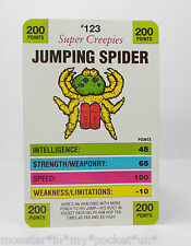 Monster In My Pocket - Series 5 - 123 Jumping Spider Battle Card