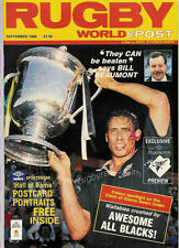 RUGBY WORLD MAGAZINE SEPTEMBER 1988 - PERFECT GIFT FOR A FAN BORN IN THIS MONTH