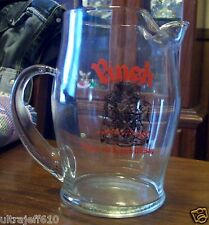 Vintage PINCH 12 YEAR OLD Whisky Scotch Glass Pitcher