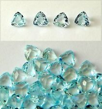 Aquamarine Trillion Shaped  Faceted Stones 6x6 mm   1 Pc.   Excellent