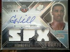08-09 UD SPX George Hill rookie autographed, triple game used swatches card.
