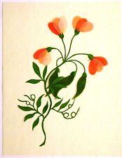China Dibujos De Flores Decoupage cuatro delicado florece c1840