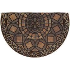 Door Mat Rubber Doormat Gothic Iron Brown 23 in x 35 in Entry Floor Rug Carpet