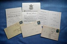 Lot of Three Military Related and Political Invitations With Envelopes
