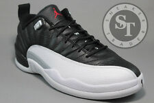 AIR JORDAN 12 XII RETRO LOW 308317-004 PLAYOFFS BLACK VARSITY RED WHITE SZ: 12