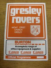 26/12/1986 Gresley Rovers v Atherstone United  (folded). Unless previously liste