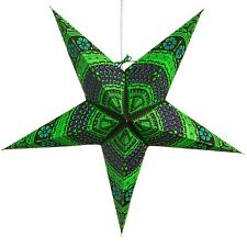 Honeycomb Green Paper Star Light Lamp Lantern with 12 Foot Cord Included