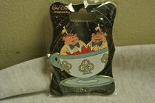 Disney D23 2015 WDI Alice in Wonderland Tweedle Dee And Dum Teacups Pin Le 250