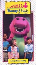 SEALED Barney & Friends CARING MEANS SHARING Time Life Video VHS 1992 RARE