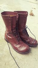 Corcoran Brown Leather Military Jump Boots Size 8.5