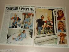 MARGAUX HEMINGWAY clipping articolo foto photo 1977 PROFUMI E POLPETTE