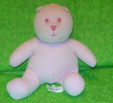 "Baby Gap PINK CORDUROY TEDDY BEAR Plush 6"" tall Stuffed Animal Toy"