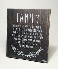 Family Poem Plaque Sign Gift Idea for Family Mum Dad Sister Brother VIN027
