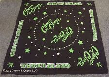 "CHEECH AND CHONG BANDANA HEADBAND MARIJUANA GET IT LEGAL 21""X 21"" BLACK"