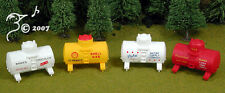 4 Liquid Tanks for Gas Water Chocolate Rubber HO 1:87 by Model Power