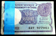 1-ONE RS. 100 SERIAL NOTES BUNDAL RARE BACK SIDE BOMBAY HIGH - 1985 -INDIA