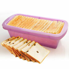 Silicone Rectangle Non Stick Bread Loaf Cake Mold Bakeware Baking Pan Mould HS9
