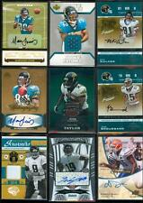 JACKSONVILLE JAGUARS Football Card Game Used Jersey/Relic and AUTO Lot(17) $215