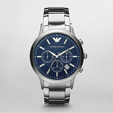 New Emporio Armani EA Stainless Steel Silver Classic Fashion AR2448 Men's Watch