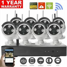 8CH Wireless NVR Kit P2P Onvif WiFi IP Camera Outdoor Waterproof 1.0MP HD CCTV