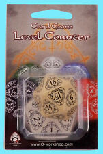 Q-Workshop D20 BEIGE LEVEL COUNTER DIE Jumbo MTG Countdown Game Dice 20 Sided