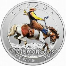 Canada 2012 Cowboy on Bronco Calgary Stampede 100th Color Quarter + Stamps Set