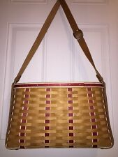 Longaberger PaprikaReD CarryAll BASKET LINER PROTECTOR LOT NeW Purse LapTop Tote