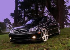 CARBON FIBER FRONT BUMPER LIP SPOILER FOR 2001-2006 MERCEDES BENZ W203 C32 & AMG