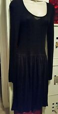 BNWT stunning Witchery Black dress  size 14 but  small fits size  10 -12