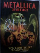 "METALLICA HAND SIGNED 8"" X 12"" COLOUR POSTER"