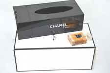CHANEL VIP Gift Black Tissue Holder Acrylic Box NEW