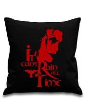 The Crow -Cult Film -  Can't Rain - Black canvas Cushion Cover 45cm x 45cm