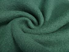 ☻ Stoff Stoffe Ital. gekochte Wolle Walkloden grün/petrol uni ☻