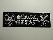 BLACK METAL BAPHOMET  EMBROIDERED PATCH