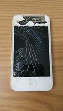 Apple iPhone 4 WHITE Cracked Screen Front/Back A1332