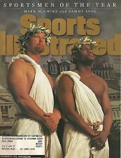 ST LOUIS CARDINALS MARK MCGWIRE CHICAGO CUBS SAMMY SOSA 1998 SPORTS ILLUSTRATED