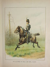1905 ANTIQUE MILITARY PRINT ~ 10th HUSSARS PRINCE OF WALES' OWN ROYAL BRITISH