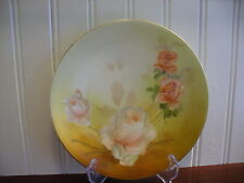 RS Germany Small Porcelain Coral Rose Floral Motif Accent Plate